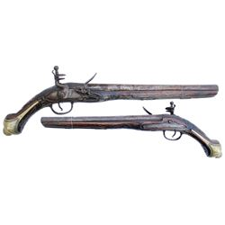European .60 caliber flintlock pistol, mid-1700s .