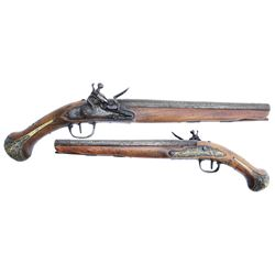 European .60 caliber flintlock pistol, mid-1700s.