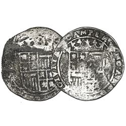 Lot of two Campen, Netherlands (Holy Roman Empire), 6 stuivers (schellings), Matthias I (early 1600s