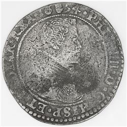 Brabant, Spanish Netherlands (Antwerp mint), portrait ducatoon, Philip IV, 1654.