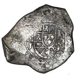 Mexico City, Mexico, cob 8 reales, (1714)J, new style.