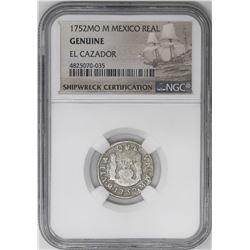 Lot of three Mexico City, Mexico, pillar 1R, Ferdinand VI, all NGC genuine / El Cazador: 1752M, 1753