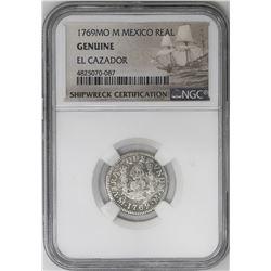 Lot of three Mexico City, Mexico, pillar 1R, Charles III, all NGC genuine / El Cazador: 1769M, 1770M