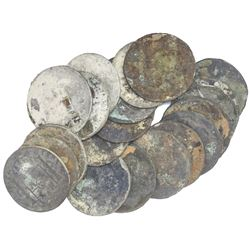 Lot of 20 Spanish colonial bust 8 reales of Charles III.