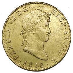 Mexico City, Mexico, gold bust 8 escudos, Ferdinand VII, 1818JJ.