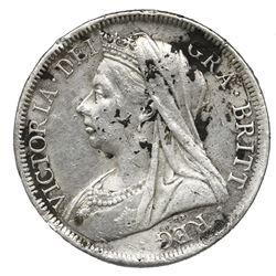 Great Britain, half crown, 1900, Victoria (old head).