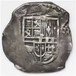 Mexico City, Mexico, cob 4 reales, Philip III, assayer not visible.