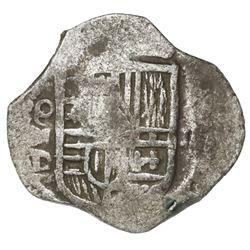 Mexico City, Mexico, cob 2 reales, Philip IV, assayer D.