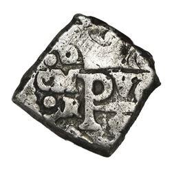"""Mexico City, Mexico, cob 1/2 real, Philip V, assayer R (1729-30), ex-""""Meseta Central."""""""