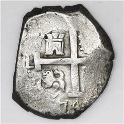 Lima, Peru, cob 8 reales, 1744V.