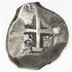 Lima, Peru, cob 8 reales, 1746V, rare.