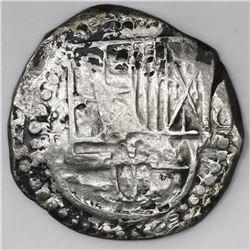 Potosi, Bolivia, cob 8 reales, 162(8-9)T.