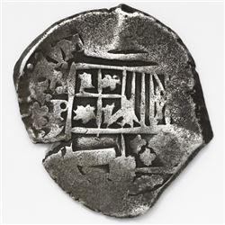 Potosi, Bolivia, cob 2 reales, Philip IV, assayer Z.