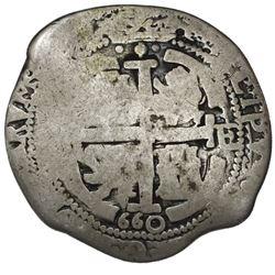 Potosi, Bolivia, cob 8 reales, 1660E.