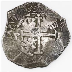 Potosi, Bolivia, cob 8 reales, 167(?)E