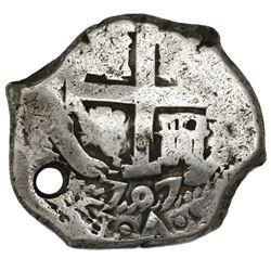 Potosi, Bolivia, cob 8 reales, 1707Y.