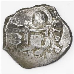 Potosi, Bolivia, cob 8 reales, 1708Y.