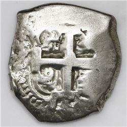 Potosi, Bolivia, cob 8 reales, 1758q.