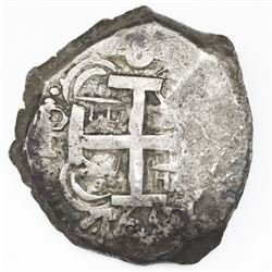 Potosi, Bolivia, cob 8 reales, 1762V-(Y).