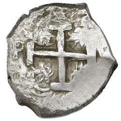 Potosi, Bolivia, cob 8 reales, 1768V-(Y).