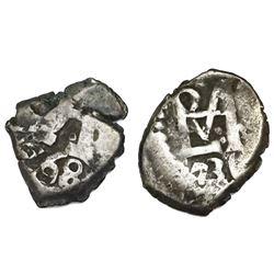 Lot of two Potosi, Bolivia, cob 1/2R: 1736 and 1768.