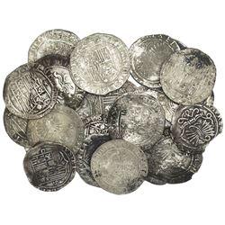 Large lot of 25 Spanish 1R, Ferdinand-Isabel, various mints.