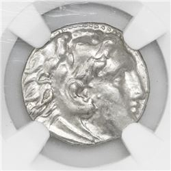 Ionia, Miletus, AR drachm, ca. early 3rd century BC, type of Alexander III (the Great), NGC AU.