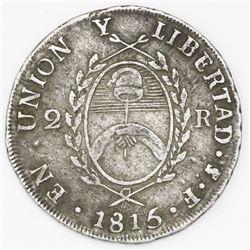 Argentina (River Plate Provinces), 2 reales, 1815F, Potosi mint.