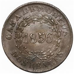 Buenos Aires, Argentina, copper 2 reales, 1856.