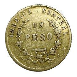 Costa Rica, gold 1 peso, 1866.