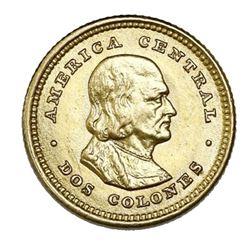 Costa Rica (struck in Philadelphia), gold 2 colones, 1900.