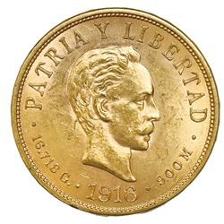 Cuba (struck at the Philadelphia mint), gold 10 pesos, 1916.
