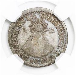 Quito, Ecuador, 1 real, 1833GJ, NGC F12.