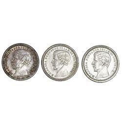 Lot of three Guatemala 1/2R: 1867R, 1868R, 1869.