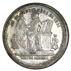 Honduras, silver 25 centavos, 1884.