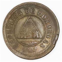 Honduras, copper 1 centavo, 1896.