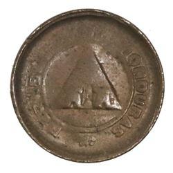 Honduras, bronze 1 centavo, 1911, CENTAVO with S, ex-Dana Roberts.