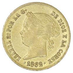 Philippines (under Spain), gold 4 pesos, Isabel II, 1862.