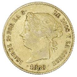 Philippines (under Spain), gold 4 pesos, Isabel II, 1868.