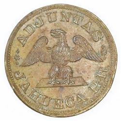 Jahueca (Adjuntas Municipio), Puerto Rico, copper 1/2 almud token, no date (late 1800s), Antonio Ben