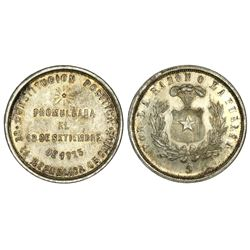 Santiago, Chile, 1 peso proclamation medal, 1925, new Constitution.