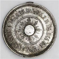 Guatemala, nickel 2 reales-sized merit medal, no date (1898), Colegio San Jose de los Infantes, rare