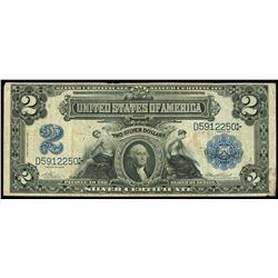 USA (Washington, D.C., Silver Certificate, $2, series of 1899, serial D5912250, Vernon-Treat.