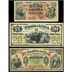 Lot of three Latin American notes: Buenos Aires, Argentina, Banco de la Provincial de Corrientes, se