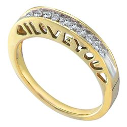 Diamond I Love You Band 1/5 Cttw 10kt Yellow Gold