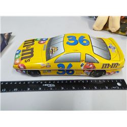 M&M Race Car tin