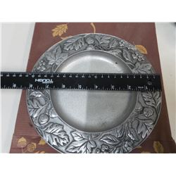 Longaberger Plate Pewter 2001