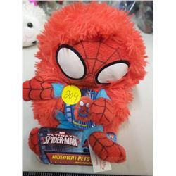 Spiderman Hidaway Pet & stuffed lamb