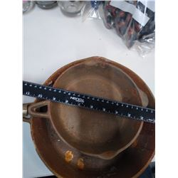 2 Cast Iron Pans