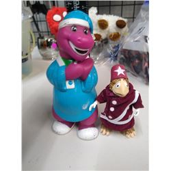 Barney rubber toy & Sid & Mary Kroft Toy